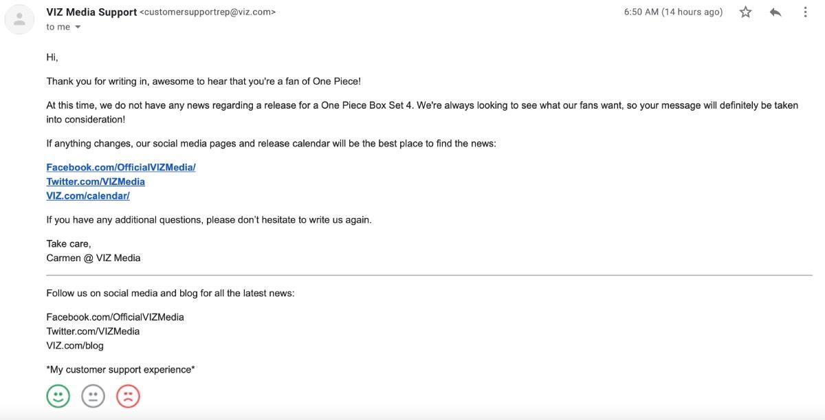 One Piece Box Set 4 Mail